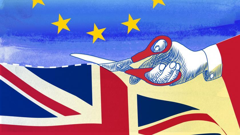 Brexit cut illustration