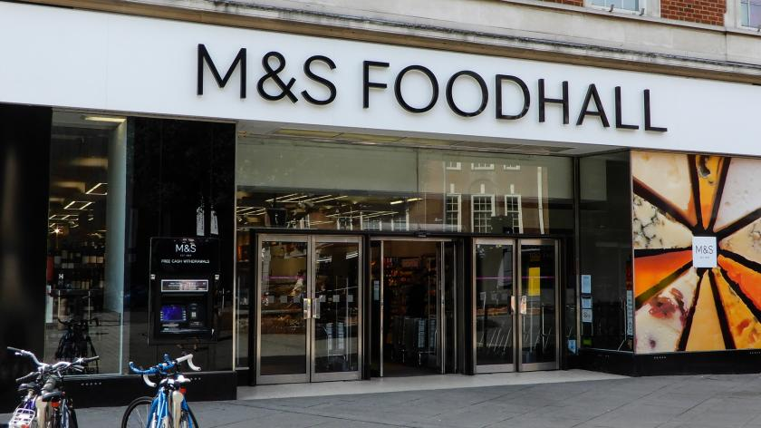 Marks and Spencers food hall entrance in Friar Street