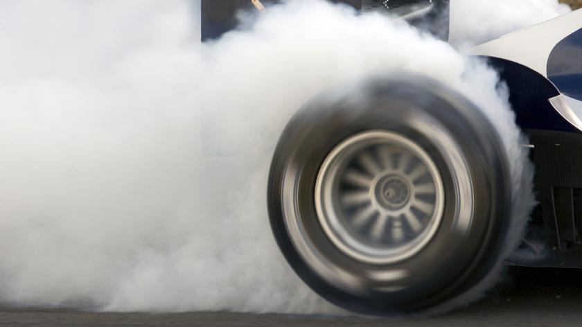 Formula one wheelspin