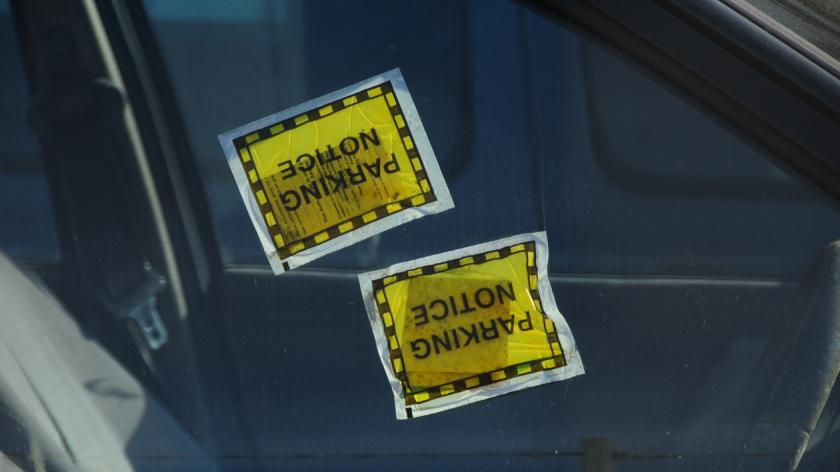 Double parking fine, U.K