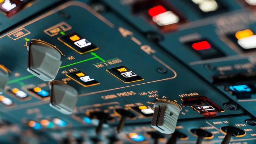 Airliner cockpit