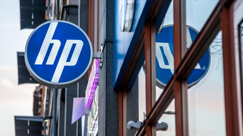 HP logo on their main shop