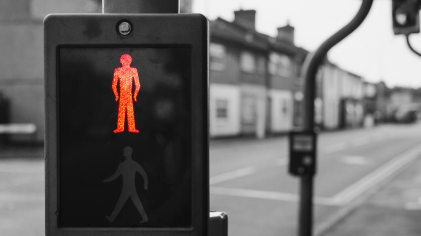 Red light for pedestrians
