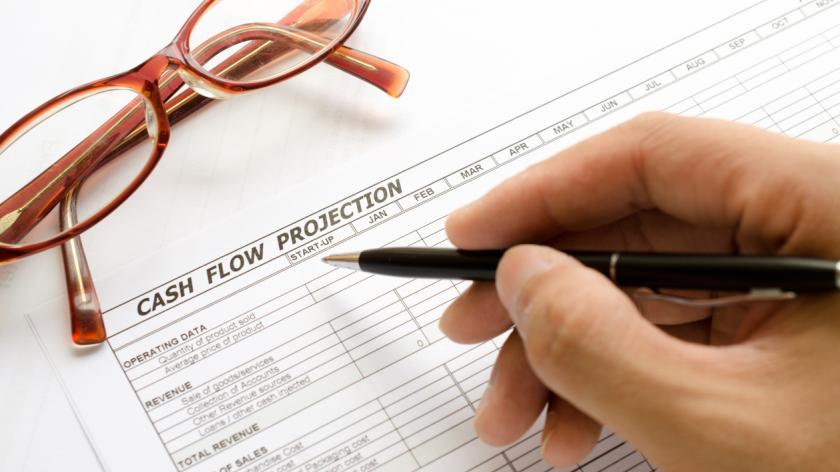 Cash flow projection spreadsheet