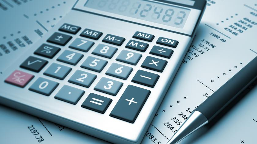 A calculator that may or may not be used for calculating tax calculations
