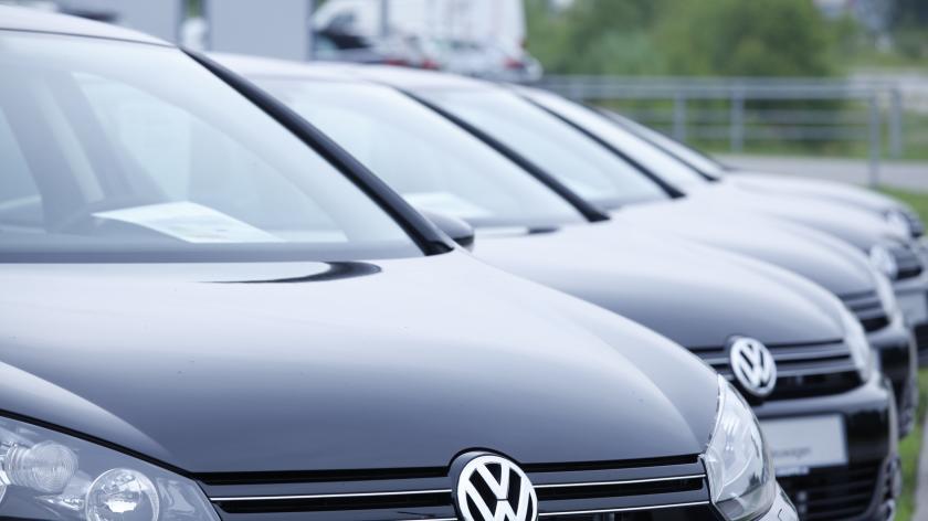 line of VWs