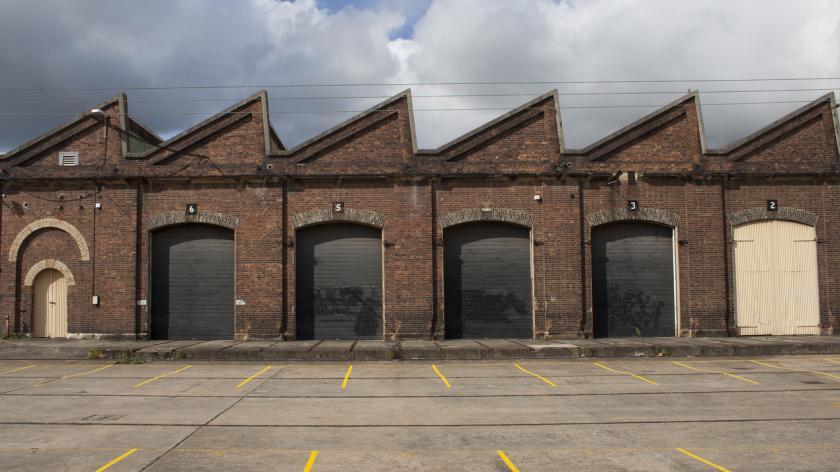 Old Factory Building Facade