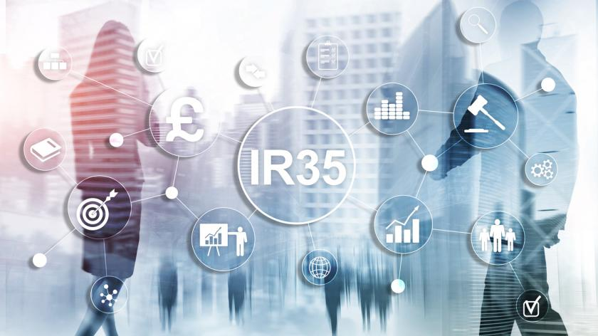 the words ir35 on a transparent background