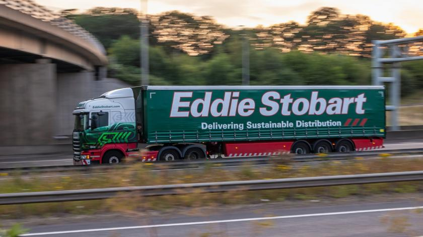 Eddie Stobart lorry in motion