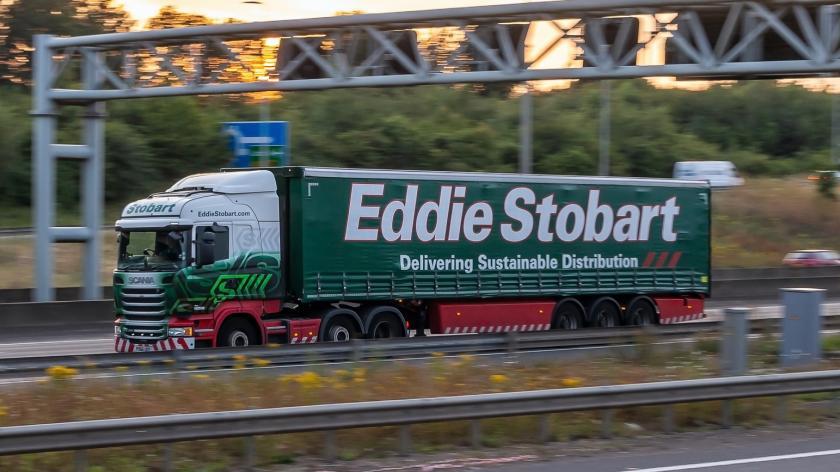 Eddie Stobart lorry in motion