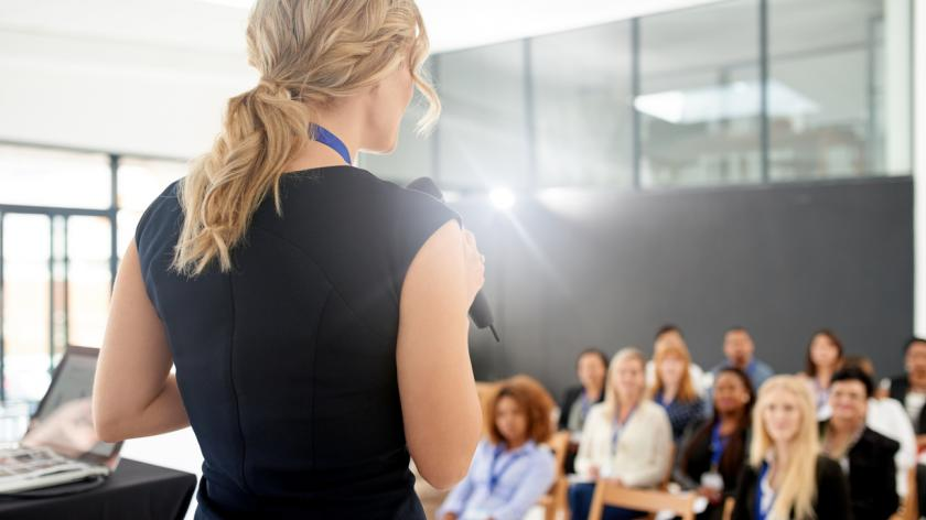 Poised for a memorable presentation