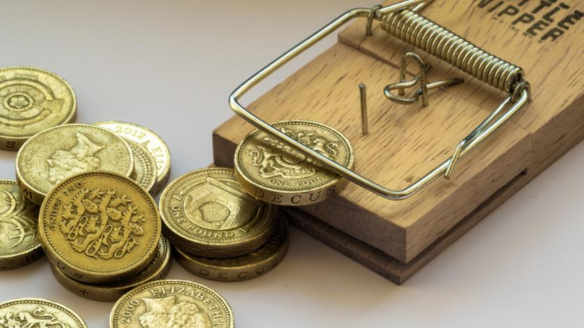 Mouse Trap Catches a British Pound Coin