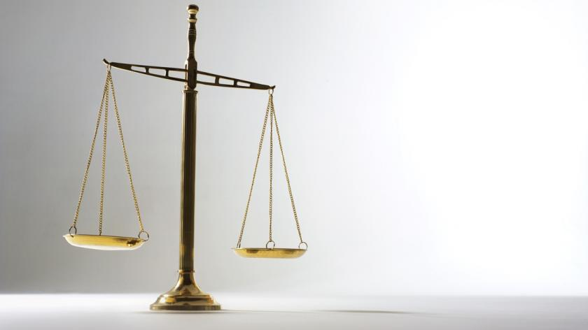 Scales of justice at tax tribunal