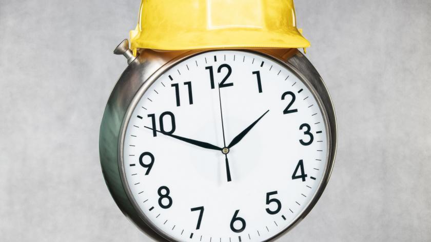Clock in the helmet
