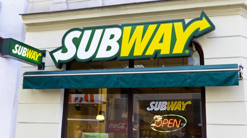 Front view of Subway Franchise Restaurant