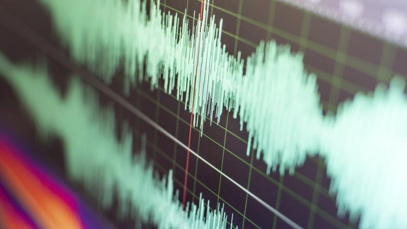 voice on sound wave