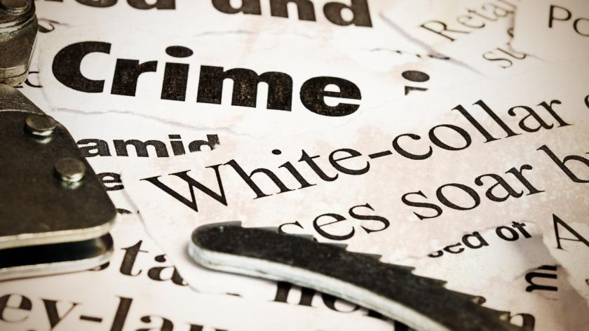 close up of headlines on crime