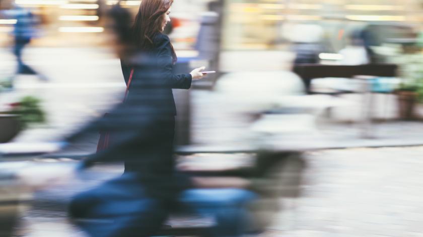 Commuting Businesswoman