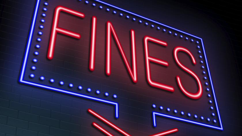 fines neon sign innit