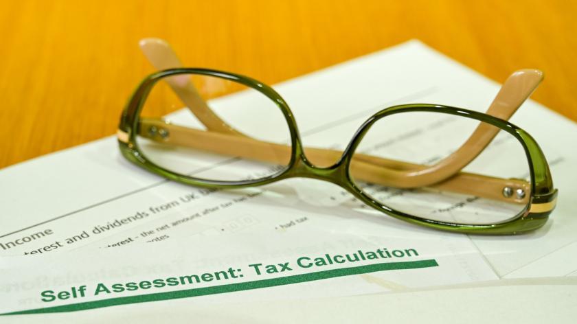 Self assessment tax calcuation