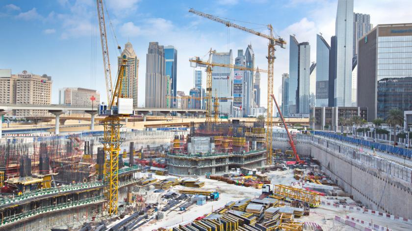 Massive construction site