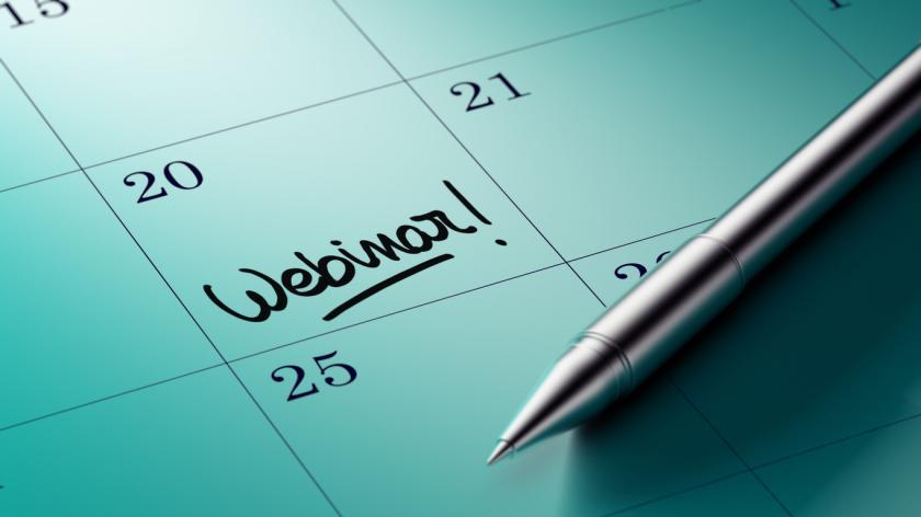 webinar on the calendar