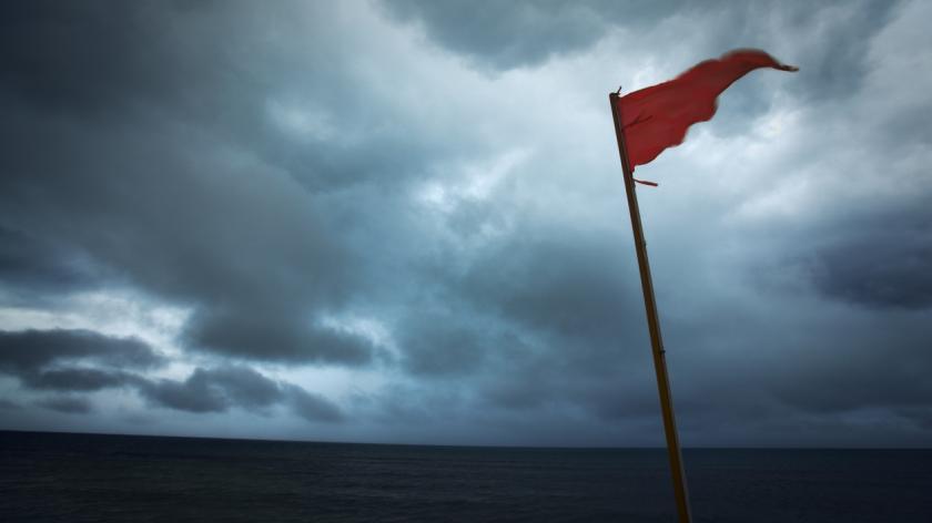 Red Flag Warning Hurricane Storm