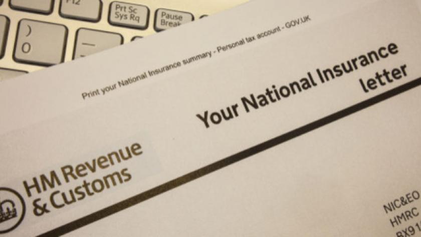 national insurance letter
