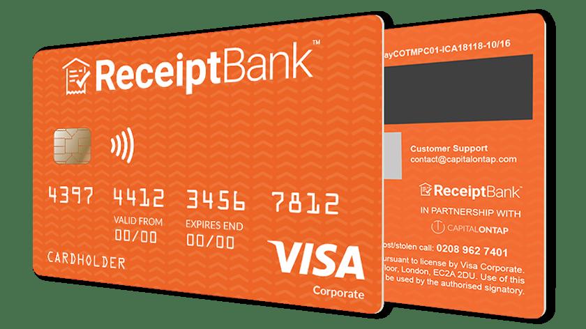 Receipt Bank credit card