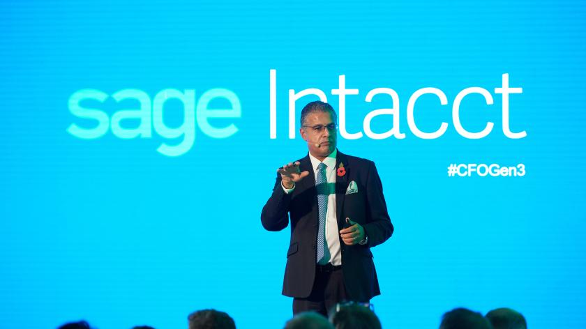 Sage Intacct launch with UK MD Sabby Gill