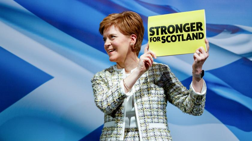 Scottish National Party leader Nicola Sturgeon