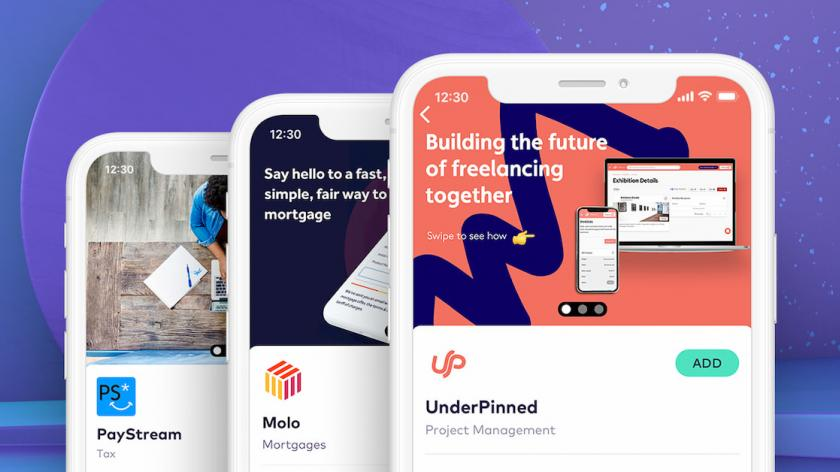 PayStream, Molo and UnderPinned app interfaces