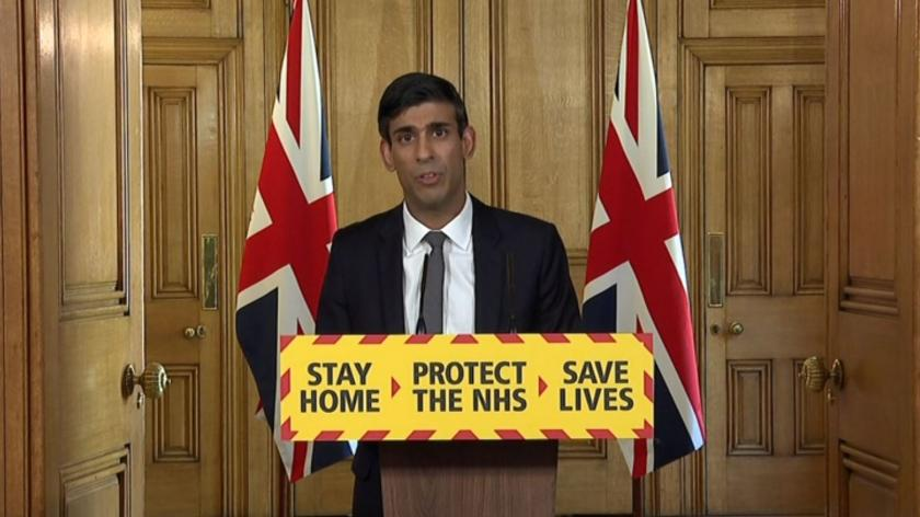 Chancelllor Rishi Sunak at 14 April coronavirus daily briefing