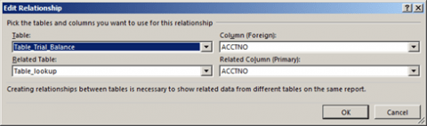 Edit table relationships in Excel 2013