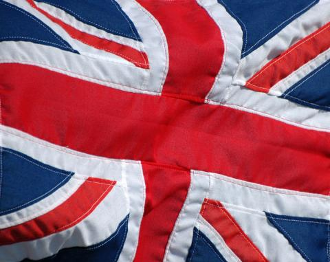 Close up picture of the British flag