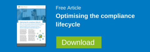Optimising the compliance lifecycle