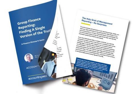 AccountsIQ Group Finance reporting