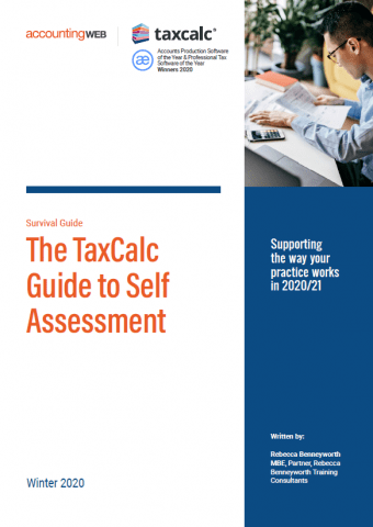 TaxCalc AWEB Self assessment guide 2021
