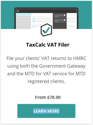 TaxCalc VAT Filer