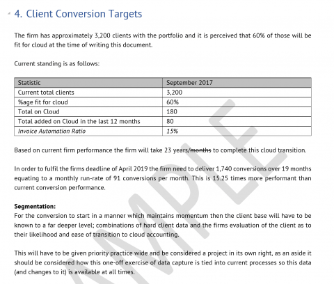 Cloud Accounting Vision Document Snapshot