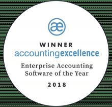 AccountsIQ Wins Enterprise Accounting Software of the Year 2018 badge