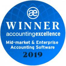 Accounting Excellence mid market enterprise accounting software winner