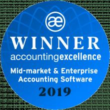 AccountsIQ Wins Enterprise Accounting Software of the Year badge