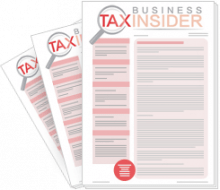 Business Tax Insider 3 free issue trial