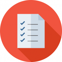 Self assessment checklist icon
