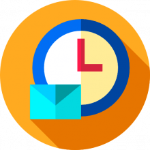 Timed email icon