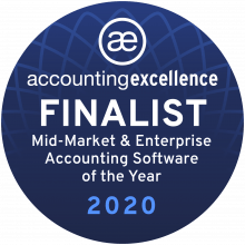 AccountsIQ are finalists of Enterprise Accounting Software of the Year 2020