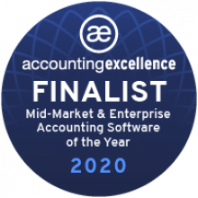 AccountsIQ finalist in Accounting Excellence Awards badge
