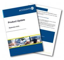 AccountsIQ product release front cover