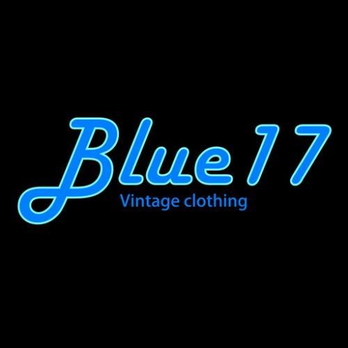 Original logo trademark registered to Blue17 vintage clothing
